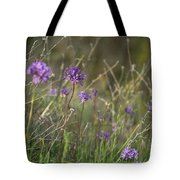 Wild Hyacinth At Sunset Tote Bag
