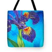 Wild Iris Art By Sharon Cummings Tote Bag