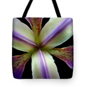 Wild Iris Macro On Black Tote Bag