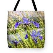 Wild Irises Tote Bag by Marty Saccone