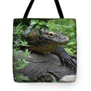 Wild Komodo Dragon Crawling Through Nature Tote Bag