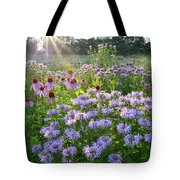 Wild Mints And Coneflowers Tote Bag