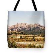 Wild Mountain Range Tote Bag