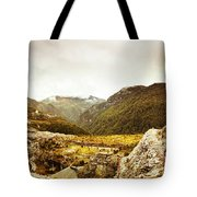 Wild Mountain Terrain Tote Bag