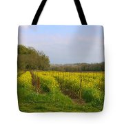 Wild Mustard Fields Tote Bag