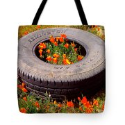 Wild Poppies Recycled Tote Bag