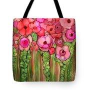 Wild Poppy Garden - Pink Tote Bag