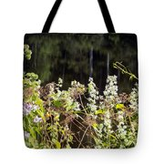 Wild Riverside Weeds And Flowers Tote Bag