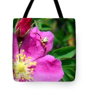 Wild Rose And The Spider Tote Bag