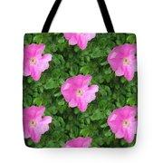 Wild Rose Pattern Tote Bag