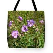 Wild Sticky Geranium Tote Bag