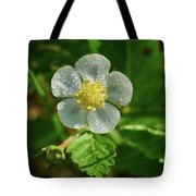 Wild Strawberry Flower Tote Bag
