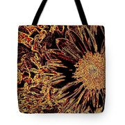 Wild Sunflower Abstract Tote Bag