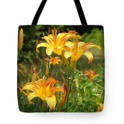 Wild Tiger Lilies Tote Bag