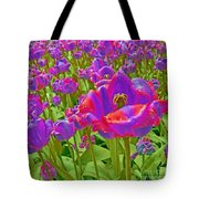 Wild Version Pink And Purple Tulips Tote Bag