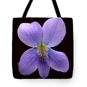 Wild Violet On Black Tote Bag