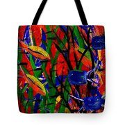 Wild Water In Red Tote Bag
