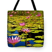 Wild Water Lilies 3 Tote Bag