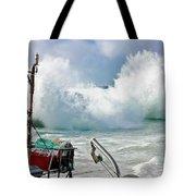 Wild Waves In Cornwall Tote Bag
