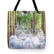 Wild Waves Under The Boardwalk Tote Bag