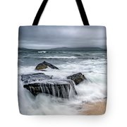 Wild Weather At Geodha Mhartainn On The Isle Of Harris Tote Bag