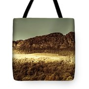 Wild West Mountain Panorama Tote Bag