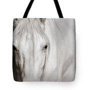 Wild White Horse Tote Bag