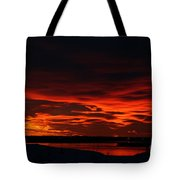 Wild Winter Sunset Tote Bag