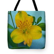 Wild Yellow Lilly Tote Bag
