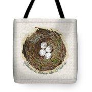 Wildcraft Nest On Linen Tote Bag