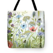 Wildflower And Bees Tote Bag