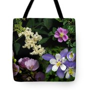 Wildflower Collage Tote Bag