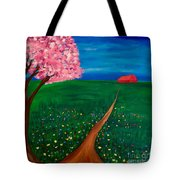 Wildflower Country Road Tote Bag