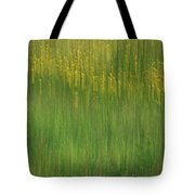 Wildflower Fields Abstract Tote Bag