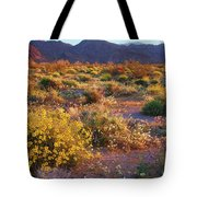 Wildflower Meadow At Joshua Tree National Park Tote Bag