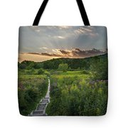 Wildflower Sunset 2016 Square Tote Bag