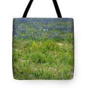 Wildflowers - Blue Horizon Three Tote Bag