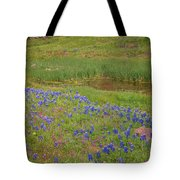 Wildflowers Along The Creek Tote Bag