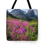 Wildflowers And A Glacier Tote Bag