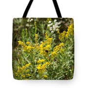 Wildflowers And Bee Tote Bag