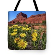 Wildflowers And Butte Tote Bag