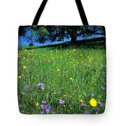 Wildflowers And The Oak Tote Bag