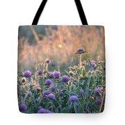 Wildflowers At Sunrise Tote Bag