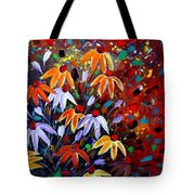 Wildflowers At Sunset Tote Bag