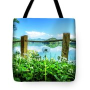 Wildflowers At The Lake In Spring Tote Bag