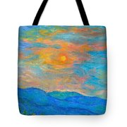 Wildflowers By A Blue Ridge Sunset Tote Bag