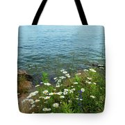 Wildflowers By The Lake  Tote Bag