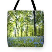 Wildflowers In A Forest Of Trees Tote Bag