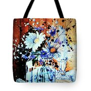 Wildflowers In A Mason Jar Tote Bag