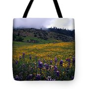 Wildflowers In Fog 2 Tote Bag